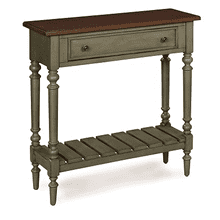 Small Console in GREEN/CHERRY TOBACCO Finish       (6618-21GCT,52875)