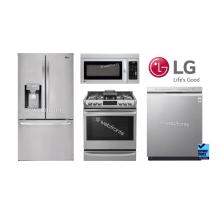 """LG 36"""" French Door (Counter-Depth) W/ Slide In Gas Range"""