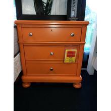 BASSETT Orange Nightstand