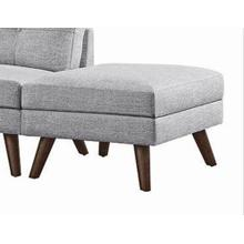 See Details - Churchill Modern Grey Ottoman - Matching Sectional Available