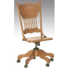 View Product - Larkin Twist Side Desk Chair Solid Oak