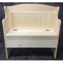 Maine Made Deacons Bench 36 36W X 36H X 16D Pine Unfinished