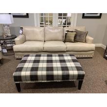 Bermuda Rift Leather Sofa 3333L10 and Matching Chair with Nailhead Trim