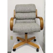 See Details - Chromcraft Caster Chair