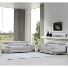 View Product - 415 - Genuine Italian Leather - 2-Piece Modern Sofa and Loveseat