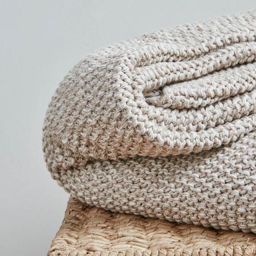 Briar Natural Cotton Knit Throw