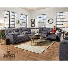 Imprint Steel Blue Reclining Sectional