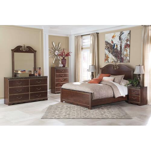 Ashley Furniture - Ashley Furniture B164 Naralyn - Reddish Brown Bedroom Set Houston Texas USA.
