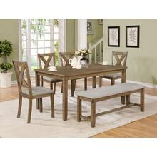 Clara 5pc Dining Room Set Plus Bench