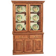 "48"" Hutch w/ 2 Full Doors, Light"