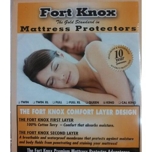 Fort Knox - Fort Knox Kind Size 100% Cotton Mattress Protector
