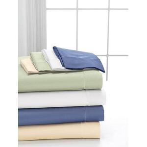 Fine Combed Cotton Sheet Set Available in ( Ivory, White, Green, BLue)