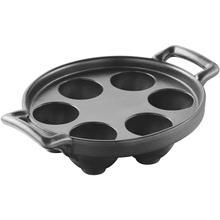 See Details - Revol Belle Cuisine Porcelain Escargot Plate 6 Holes, Cast Iron