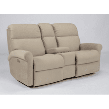 Davis Fabric Reclining Console Loveseat