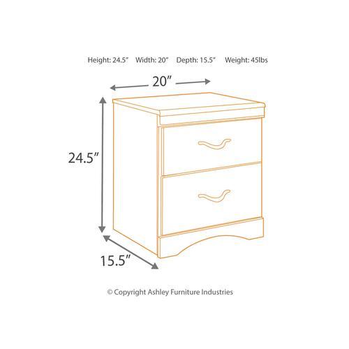 B217 3PC Set: Queen/Full Panel Headboard & Nightstand w/ Frame