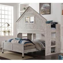 View Product - Club House Twin Loft with Full Caster Bed