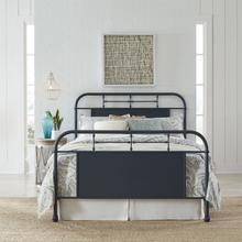 View Product - Queen Metal Bed - Navy