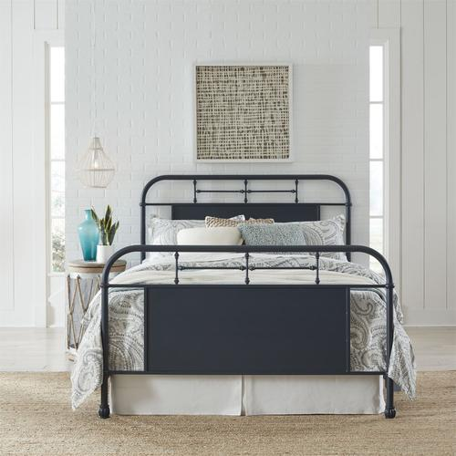 Liberty Furniture Industries - Queen Metal Bed - Navy