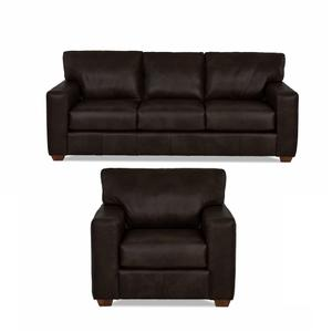 Sydney Java All Leather Sofa & Chair Product Image