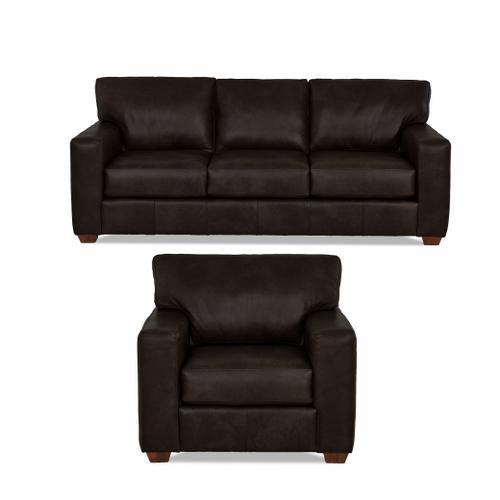 Sydney Java All Leather Sofa & Chair