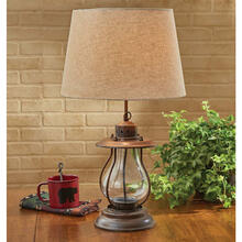 Rustic Lantern Lamp w/ Shade