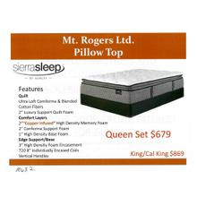 Ashley Mt. Rogers Ltd. Pillowtop by Sierra Sleep