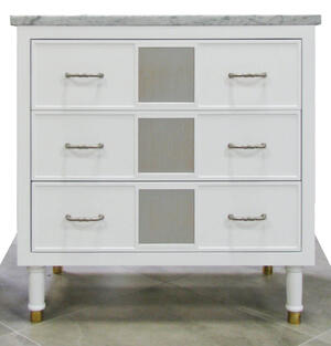 "Cleo 36"" Walnut Vanity in White Product Image"