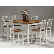 Arlington 30 Slat Back Barstool - White and Java