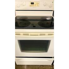 See Details - USED- Biscuit-on-Biscuit 30-Inch Self-Cleaning Freestanding Electric Ceramic Glass Range- E30BIGLAS-U SERIAL #22