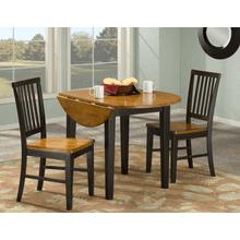 Arlington Slat Back Side Chair - Black and Java