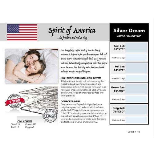 Silverdreameuropillowtopqueen In By Englander Mattress In Bismark Nd Silver Dream Euro Pillow Top