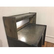 Desk Hutch Rustic Grey