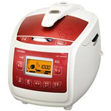 CUCKOO Pressure RICE COOKER l CRP-J0610F Ivory/Red (6 Cup)