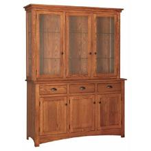 Transitional 3- Door China Hutch