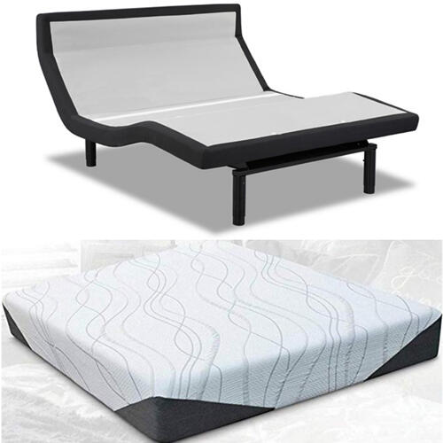 Leggett & Platt Prodigy PT Adjustable Bed with Mlily Cool Gel Hybrid Mattress