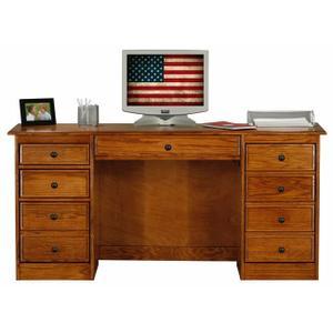 """Oak 30"""" Double Pedestal Desk"""