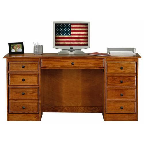 "American Heartland Manufacturing - Oak 30"" Double Pedestal Desk"