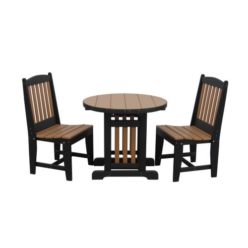 "33"" Round Table W/2 Side Chairs"