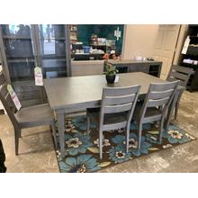 See Details - Dining Table, 4 Chairs, and Bench