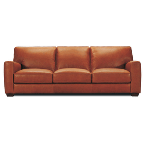 Violino Leather Furniture - Leather Sofa in Dark Brown Leather Color *Matching Loveseat also Available*