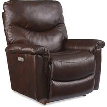 See Details - James Leather Match Power Rocking Recliner