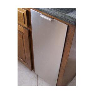"""12"""" Recycling Cabinet White with Stainless Steel Panel"""