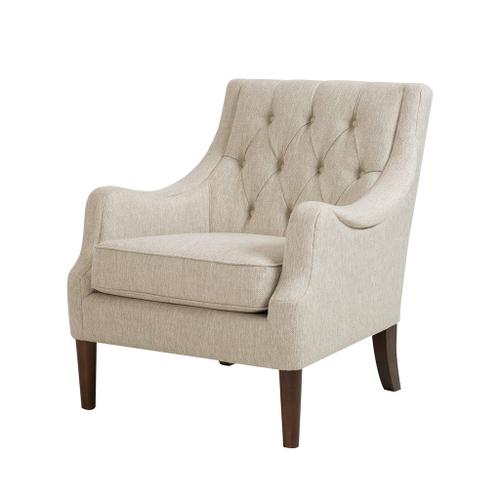 Ollix - BUTTON TUFTED ACCENT CHAIR - BEIGE