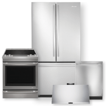Stainless Steel Counter Depth French Door Refrigerator & 30 Inch Electric Range Package- Open Box