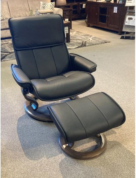 Stressless By EkornesStressless Admiral Large Classic Base Chair And Ottoman