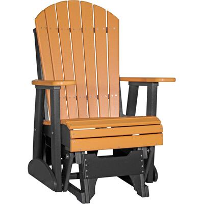 Adirondack Glider 2' Tangerine and Black