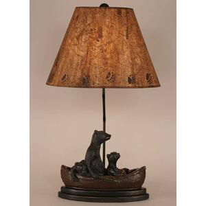 Bear Family In Canoe Table Lamp