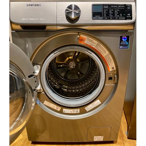 Samsung - Samsung WW22N6850QX     2.2 cu. ft. Front Load Washer with QuickDrive in Inox Grey