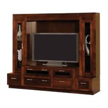 Amish Maple Hill Custom Made Wall Unit