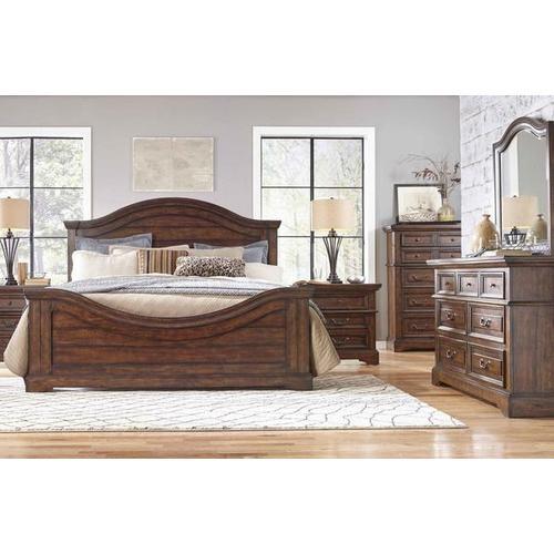 King Bed, Dresser, Mirror and 2 Nightstands